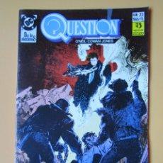 Cómics: QUESTION. NÚM. 23. DÍA DE ELECCIONES - DENNIS O'NEIL. DENYS COWAN. MALCOM JONES III. Lote 181329915