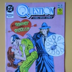 Comics: QUESTION. NÚM. 26. EL ROMANCE DEL RIDDLER - DENNIS O'NEIL. DENYS COWAN. MALCOM JONES III. Lote 181329933