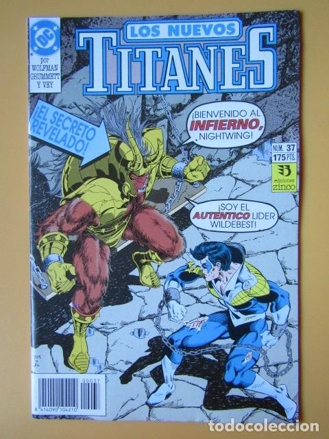 LOS NUEVOS TITANES. NÚM. 37. ¡EL SECRETO REVELADO! - MARV WOLFMAN. TOM GRUMMETT. AL VEY (Tebeos y Comics - Zinco - Nuevos Titanes)