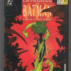 Cómics: LEYENDAS DE BATMAN. Nº 41. DC / ZINCO. (C/A59). Lote 182491420