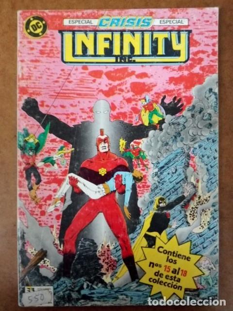 INFINITY INC. TOMO Nº 4 RETAPADO CON LOS NUMEROS 15 AL 18 - ZINCO (Tebeos y Comics - Zinco - Infinity Inc)