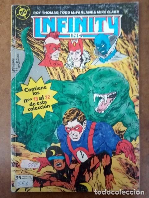 INFINITY INC. TOMO Nº 5 RETAPADO CON LOS NUMEROS 19 AL 22 - ZINCO (Tebeos y Comics - Zinco - Infinity Inc)
