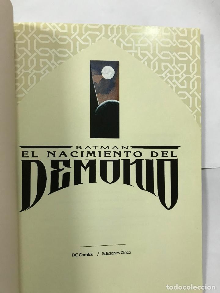 Cómics: BATMAN ---- EL NACIMIENTO DEL DEMONIO, EDICIONES ZINCO, 1993 - Foto 2 - 183063393