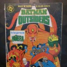 Cómics: BATMAN Y LOS OUTSIDERS N.19 . EN LAS GARRAS DE KOBRA . ( 1986/1988 ) .. Lote 183331733