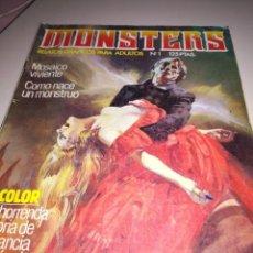 Cómics: MONSTERS. RELATOS GRAFICOS PARA ADULTOS. NUMERO 1. REF. GAR 199. Lote 183490816