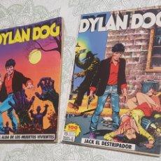 Cómics: LOTE DE DOS COMICS DYLAN DOG, EL ALBA DE LOS MUERTOS VIVIENTES Y JACK EL DESTRIPADOR. Lote 183845517