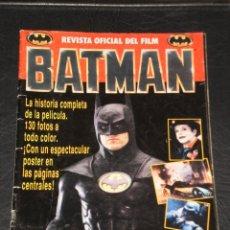 Cómics: REVISTA OFICIAL DEL FILM BATMAN - ED. EDICIONES ZINCO, 1989 - CONTIENE EL POSTER CENTRAL. Lote 183847926