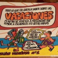 Cómics: VACACIONES VIDAESTA Nº1 (FORGES). Lote 183919616