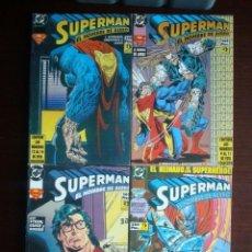 Cómics: SUPERMAN Nº 1 AL 14 COLECCIÓN COMPLETA (EL HOMBRE DE ACERO) SERIE DE 1994 (ZINCO) DC. Lote 184330067