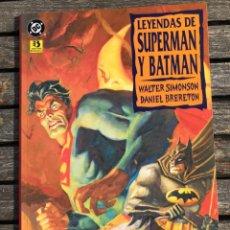 Cómics: LEYENDAS DE SUPERMAN Y BATMAN, LIBRO 2 (DE 3) AUT. SIMONSON Y BRERETON. EDICIONES ZINCO, AÑO 1994.. Lote 184839212