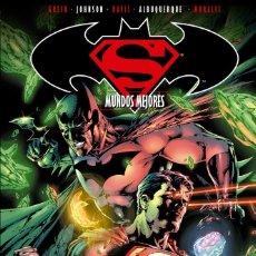 Cómics: SUPERMAN & BATMAN 4 MUNDOS MEJORES - ECC / DC TAPA DURA . Lote 187544005
