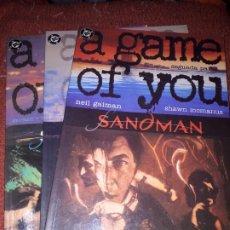 Cómics: SANDMAN: A GAME OF YOU 2, 3 Y 4 - ZINCO. Lote 189087321