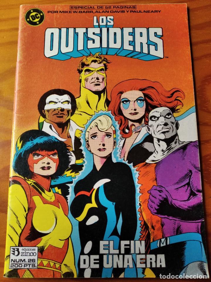 LOS OUTSIDERS Nº 26 ULTIMO NUMERO - ALAN DAVIS - DC COMICS ZINCO - 52PGNAS. (Tebeos y Comics - Zinco - Outsider)