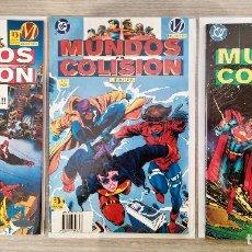 Cómics: MUNDOS EN COLISIÓN COMPLETA 3 TOMOS RÚSTICA ED.ZINCO (1+2+3) ¡¡COMIENZA LA BATALLA...!! MILESTONE. Lote 189330527