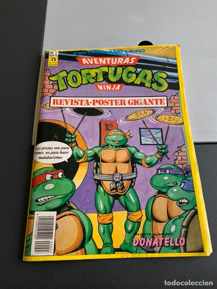 REVISTA PÓSTER GIGANTE. TORTUGAS NINJA N 3 (Tebeos y Comics - Zinco - Otros)