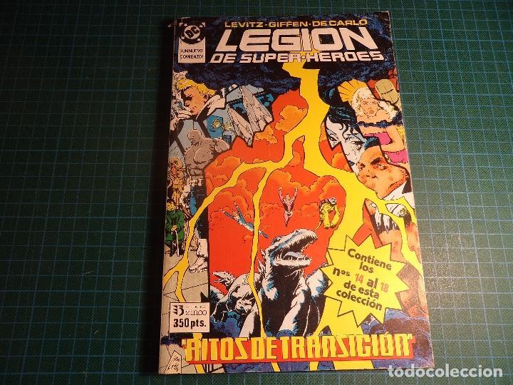 TOMO LEGION DE SUPER HEROES. CONTIENE LOS NUMEROS 14 AL 18. (REF.01). (Tebeos y Comics - Zinco - Retapados)