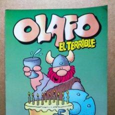 Cómics: OLAFO EL TERRIBLE N°1, POR DIK BROWNE (ZINCO, 1987). 48 PÁGINAS A COLOR CON CUBIERTAS EN RÚSTICA.. Lote 191067597