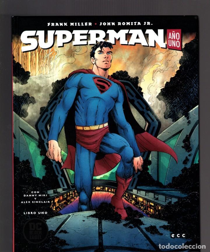 Cómics: SUPERMAN AÑO UNO 1 2 3 COMPLETA - ECC / DC BLACK LABEL / TAPA DURA / FRANK MILLER & JOHN ROMITA JR - Foto 2 - 191342265