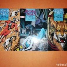 Cómics: ANIMAL MAN. CARNE Y SANGRE.TRES TOMOS . COMPLETA. RUSTICA. EDICIONES ZINCO. LINEA VERTIGO.. Lote 191494158