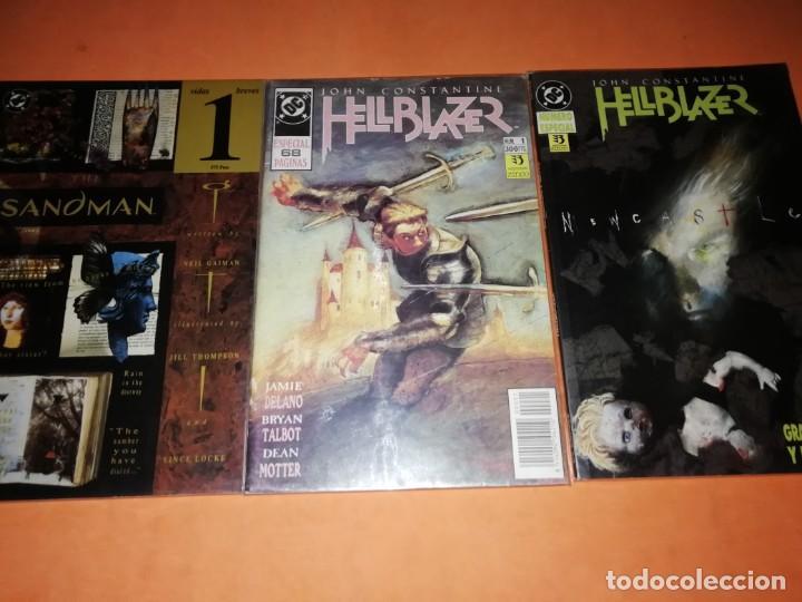 LOTE DC. EDICIONES ZINCO. HELLBLAZER Y THE SANDMAN. (Tebeos y Comics - Zinco - Otros)
