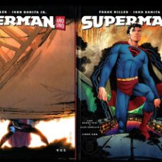 Cómics: SUPERMAN AÑO UNO 1 2 3 COMPLETA - ECC / DC BLACK LABEL / TAPA DURA / FRANK MILLER & JOHN ROMITA JR. Lote 191342265