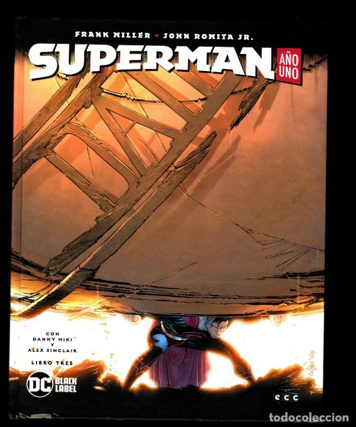 Cómics: SUPERMAN AÑO UNO 1 2 3 COMPLETA - ECC / DC BLACK LABEL / TAPA DURA / FRANK MILLER & JOHN ROMITA JR - Foto 6 - 191342265