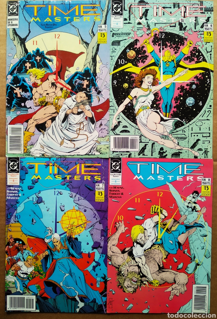 Cómics: Lote Time Masters Miniserie Completa: Números 1-2-3-4-5-6-7-8 (Zinco, 1991). Los Amos del Tiempo. - Foto 2 - 192446457