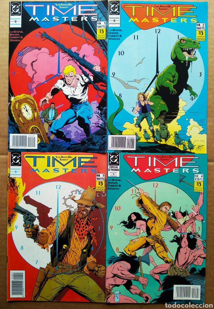 LOTE TIME MASTERS MINISERIE COMPLETA: NÚMEROS 1-2-3-4-5-6-7-8 (ZINCO, 1991). 'LOS AMOS DEL TIEMPO'. (Tebeos y Comics - Zinco - Otros)