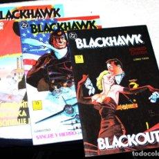 Cómics: BLACKHAWK (DE HOWARD CHAYKIN ) COLECCION COMPLETA EN TRES TOMOS (MBE). Lote 192950708
