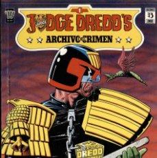 Cómics: JUDGE DREDD'S ARCHIVO DEL CRIMEN (4 NÚMEROS COMPLETA). Lote 193074595