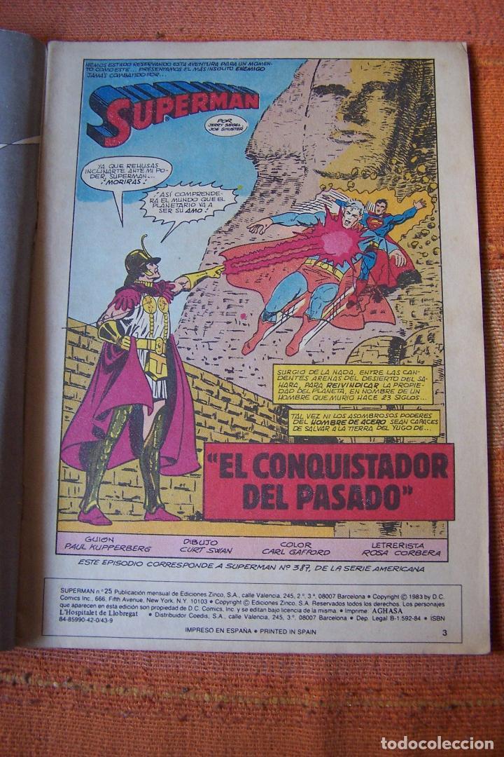 Cómics: SUPERMAN Nº 25. DC, EDICIONES ZINCO. - Foto 2 - 193811076
