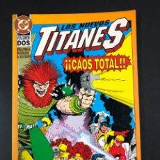 Cómics: NUEVOS TITANES - CAOS TOTAL VOLUMEN DOS. Lote 194121883