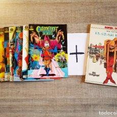 Cómics: CAMELOT 3000 (COMPLETA 9 NÚMEROS) ED. ZINCO (BRIAN BOLLAND) + EL GRAN BURLÓN (DE REGALO). Lote 194260723
