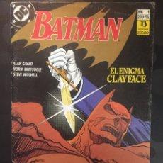 Cómics: BATMAN : EL ENIGMA CLAYFACE N.1 . ( 1990 ).. Lote 194395095