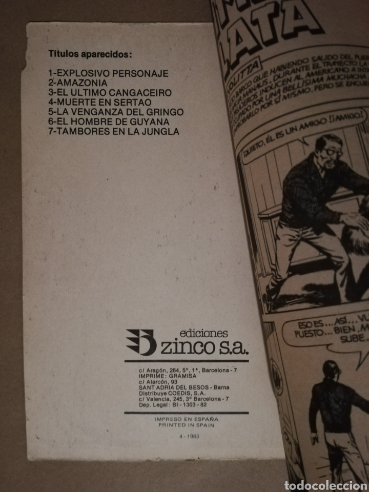 Cómics: 3 EJEMPLARES DE MISTER NO - Nº 5 - 6 - 8 - ED. ZINCO - AÑOS 1982/83 - PJRB - Foto 3 - 194901136