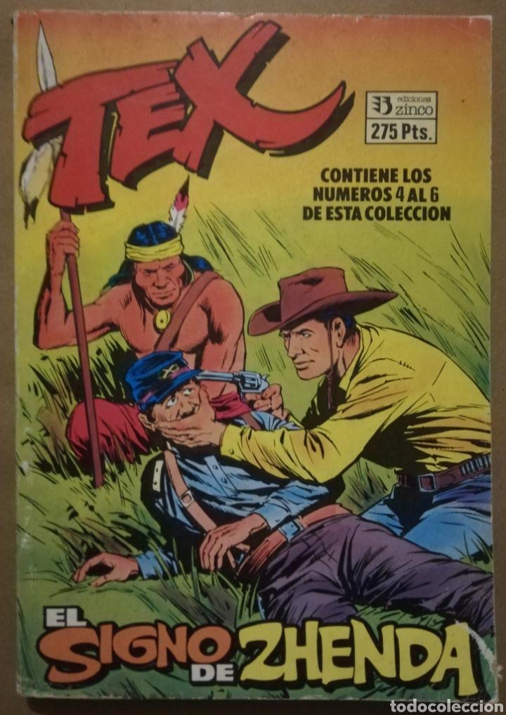 3 EJEMPLARES DE TEX EN 1 - Nº 4 - 5 - 6 - ED. ZINCO - AÑOS 80 - PJRB (Tebeos y Comics - Zinco - Otros)