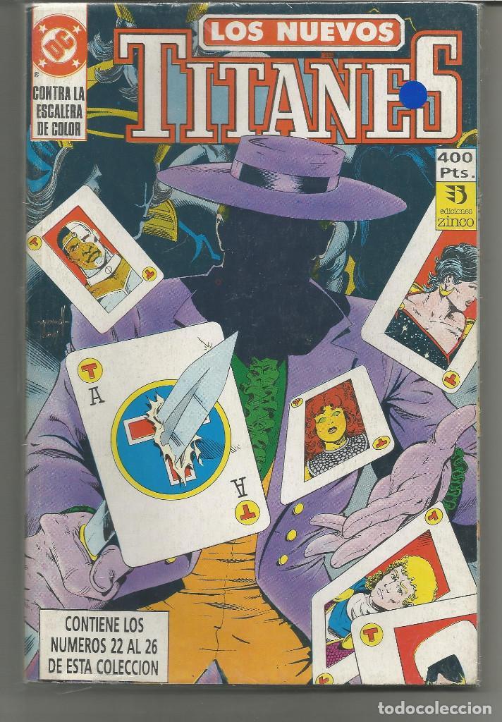 LOS NUEVOS TITANES RETAPADO Nº 5 EDICIONES ZINCO. (Tebeos y Comics - Zinco - Prestiges y Tomos)