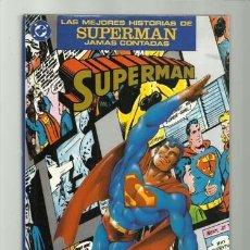 Cómics: LAS MEJORES HISTORIAS DE SUPERMAN JAMAS CONTADAS, 1990, ZINCO, MUY BUEN ESTADO. Lote 195317430