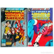 Cómics: EL FIN DE LA LIGA DE LA JUSTICIA AMERICA (JLA) NºS 3 Y 4 / DC / ZINCO 1989 (DEMATTEIS & MCDONNELL). Lote 195964223