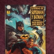 Cómics: LEYENDAS DE SUPERMAN Y BATMAN LIBRO 1- WALTER SIMONSON - ED. ZINCO. Lote 196918427