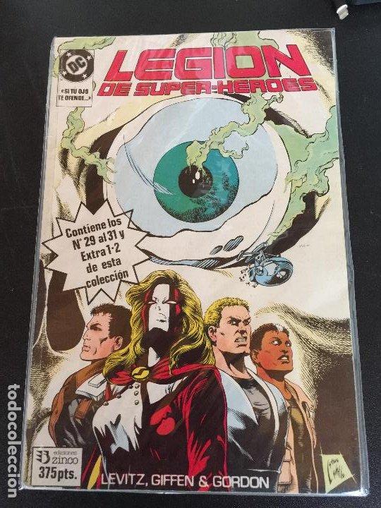 ZINCO DC LEGION DE SUPER-HEROES NUMEROS DEL 29 AL 31 Y EXTRA 1 Y 2 BUEN ESTADO (Tebeos y Comics - Zinco - Nuevos Titanes)