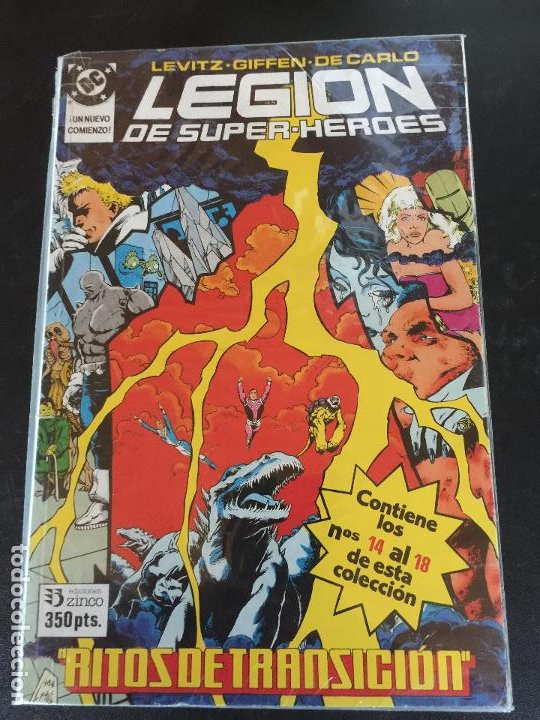 ZINCO DC LEGION DE SUPER HEROES NUMEROS DEL 14 AL 18 NORMAL ESTADO (Tebeos y Comics - Zinco - Nuevos Titanes)