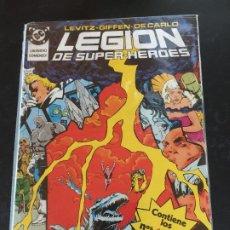 Cómics: ZINCO DC LEGION DE SUPER HEROES NUMEROS DEL 14 AL 18 NORMAL ESTADO. Lote 197770631