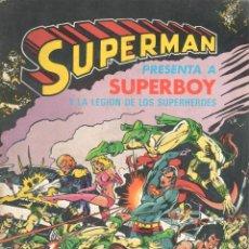 Cómics: ALBUM SUPERMAN NUMERO 5. BRUGUERA. CON SUPERBOY. COLOR. 60 PAGINAS. Lote 197864990