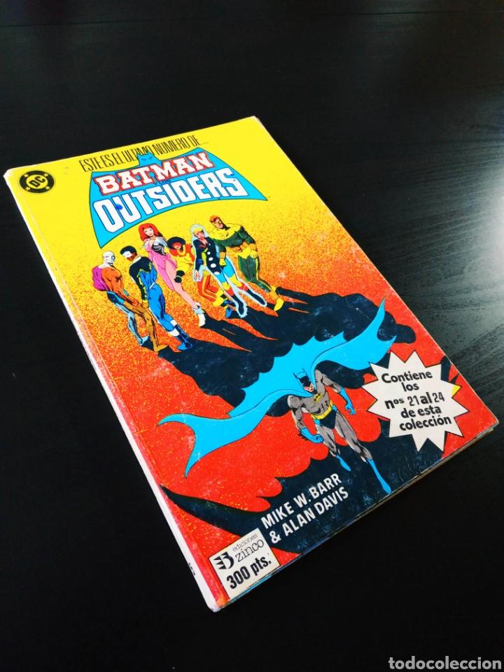 BUEN ESTADO BATMAN Y LOS OUTSIDERS 5 ZINCO RETAPADO DEL 21 AL 24 (Tebeos y Comics - Zinco - Outsider)