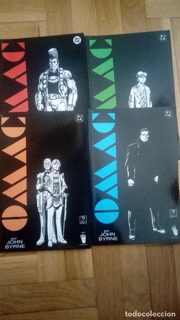OMAC Nº 1 AL 4 (JOHN BYRNE) COMPLETA - EDICIONES ZINCO DC (Tebeos y Comics - Zinco - Prestiges y Tomos)