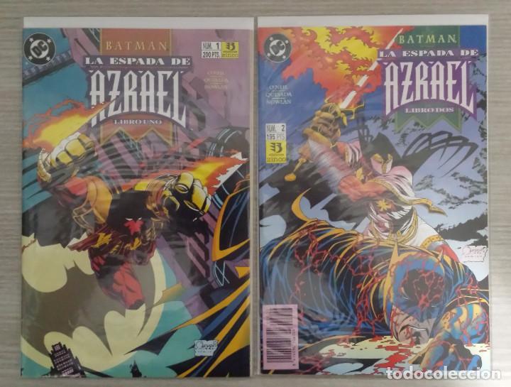 Cómics: BATMAN LA ESPADA DE AZRAEL MINISERIE COMPLETA NÚMEROS 1+2+3+4 GRAPA (ZINCO) - Foto 2 - 198249446