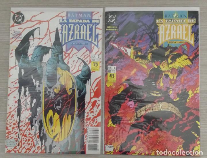 Cómics: BATMAN LA ESPADA DE AZRAEL MINISERIE COMPLETA NÚMEROS 1+2+3+4 GRAPA (ZINCO) - Foto 3 - 198249446