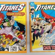 Cómics: LOS NUEVOS TITANES : CAOS TOTAL ¡ COMPLETA 2 NUMEROS ! DC - ZINCO. Lote 198341762