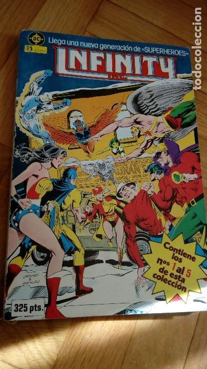 INFINITY INC - TOMO Nº 1 RETAPADO - CONTIENE LOS NUMEROS DEL 1 AL 5 (Tebeos y Comics - Zinco - Infinity Inc)